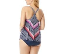 Women's Beach House Plus Size Kerry Mesh Layer Tankini