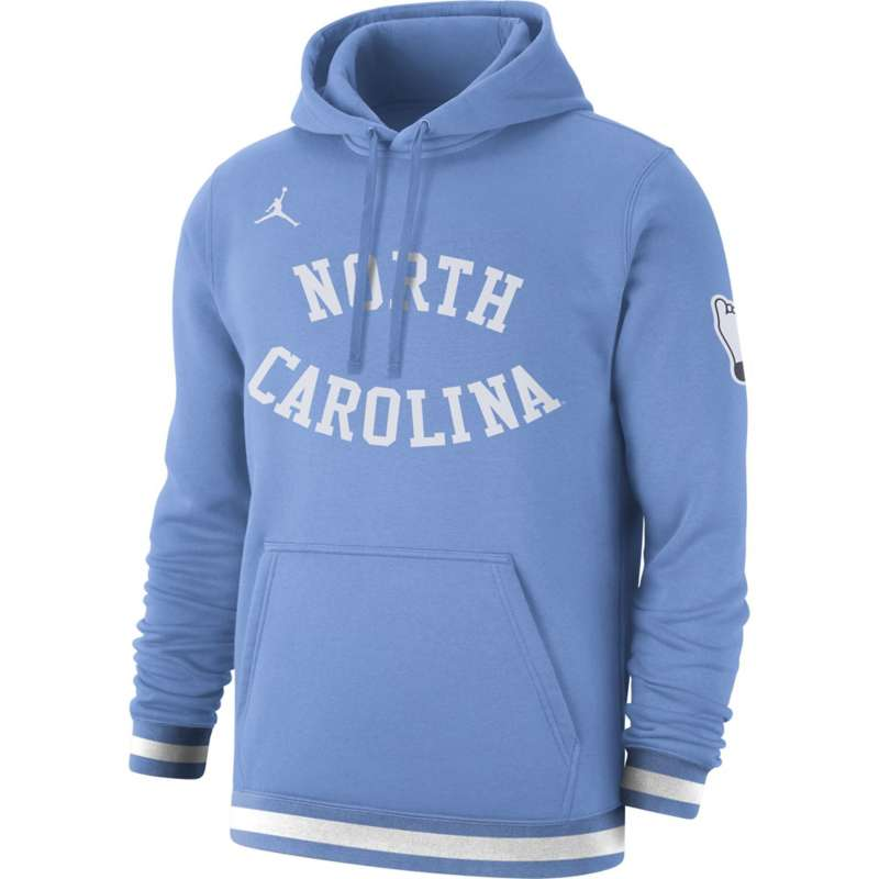 Jordan North Carolina Tar Heels Sportswear Wordmark Club Fleece Hoodie