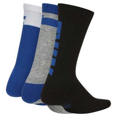 Kids' Nike Everyday Graphic Crew 3 Pack Socks