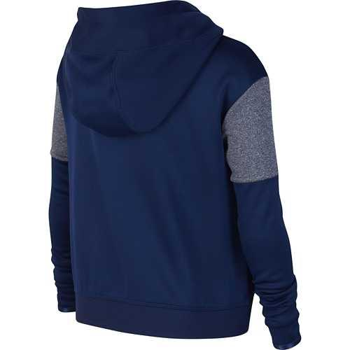 Girls' Nike Therma Color Block Sleeve Full Zip Hoodie