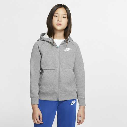 Girls' Nike Sportswear Fleece Full Zip Hoodie