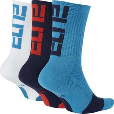 Nike Elite Grapihic Crew 3 Pack Basketball Socks