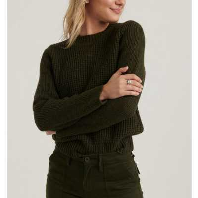 Women's Lucky Brand Waffle Sweater
