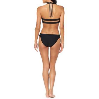 Women's Jessica Simpson Rose bay Textured Twist Bandeau Bikini Top