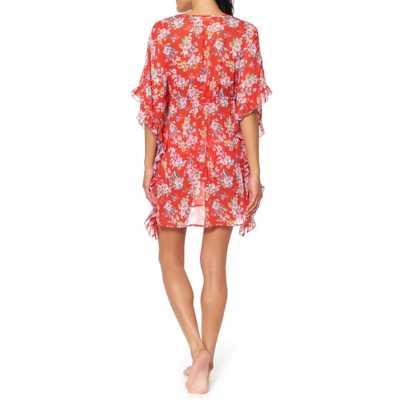 Women's Jessica Simpson Chantilly Frill Side Chiffon Swim Dress Cover-Up