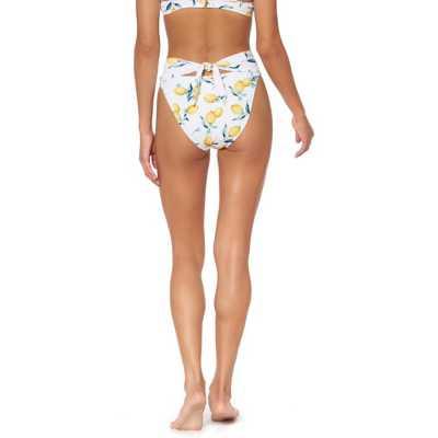 Women's Jessica Simpson Nice Lemons Tie Back High Waist Bikini Bottom