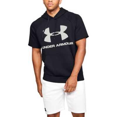 Men's Under Armour Rival Fleece Logo Short Sleeve Hoodie