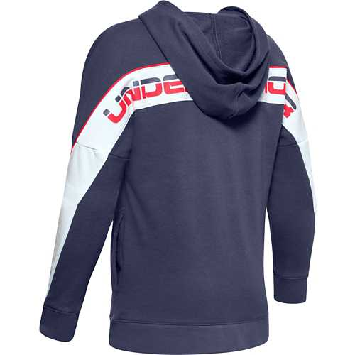 Boys' Under Armour Rival Color Block Terry Full Zip Hoodie