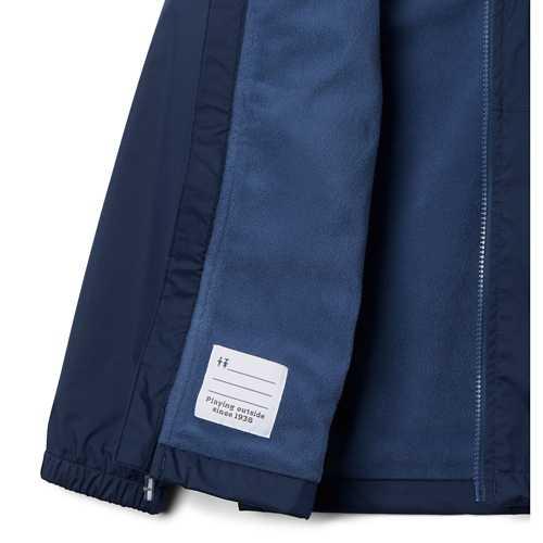 Boys' Columbia Rainy Trails Fleece Lined Rain Jacket