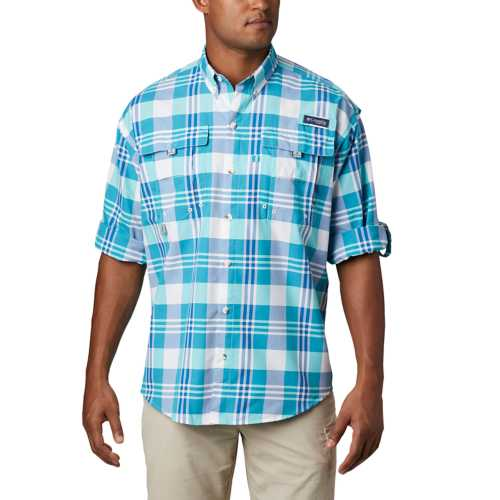Men's Columbia PFG Super Bahama Long Sleeve Button Up Shirt