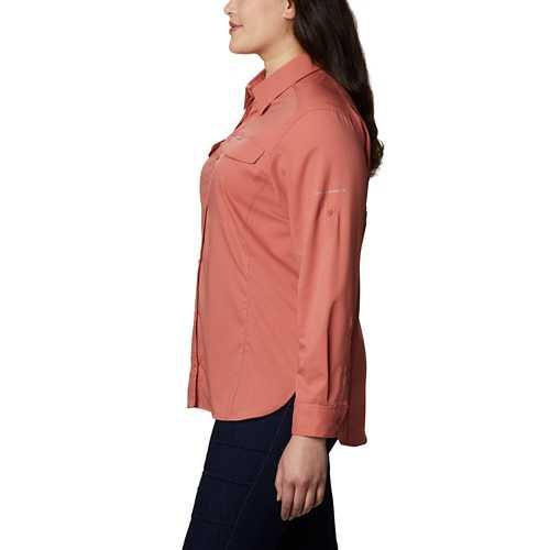 Women's Columbia Plus Size Silver Ridge Lite Long Sleeve Shirt