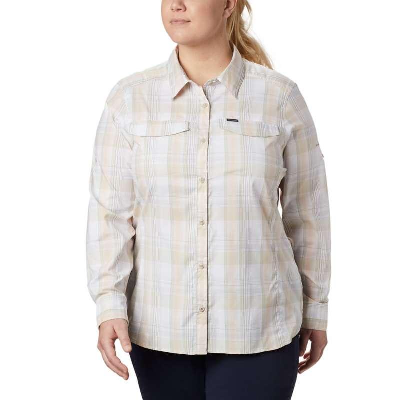 Women's Columbia Plus Size Silver Ridge Lite Plaid Long Sleeve Shirt