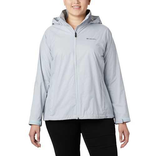 Women's Columbia Plus Size Switchback III Printed Rain Jacket