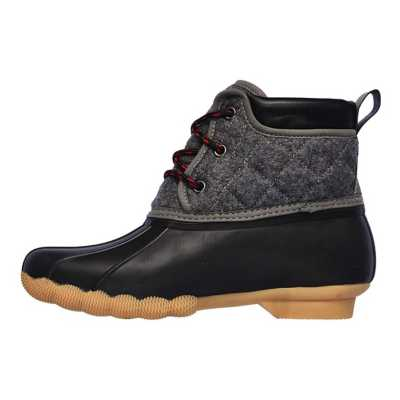 Women's Skechers Mid Quilted Lace Boots