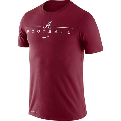 Nike Alabama Crimson Tide Dri-FIT Icon Wordmark Football T-Shirt