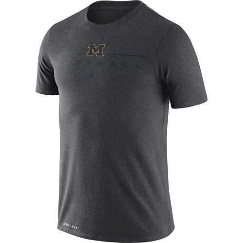 Jordan Michigan Wolverines Dri-FIT Icon Wordmark Football T-Shirt