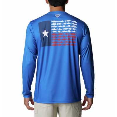 Vivid Blue/Texas Flag