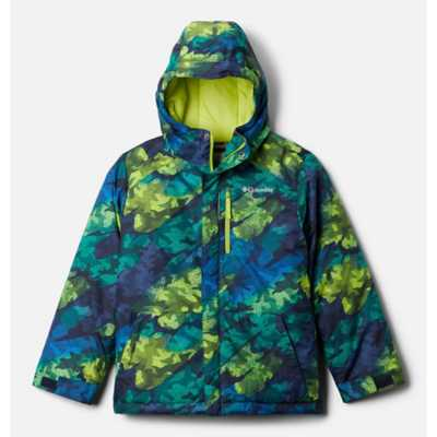 Bright Chartreuse Brushed Camo Print