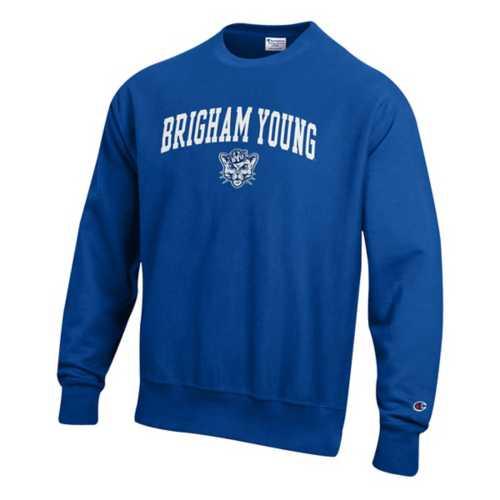 Adult Champion BYU Cougars Weave Crew Sweatshirt