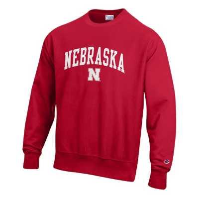 Adult Champion Nebraska Cornhuskers Weave Crew Sweatshirt
