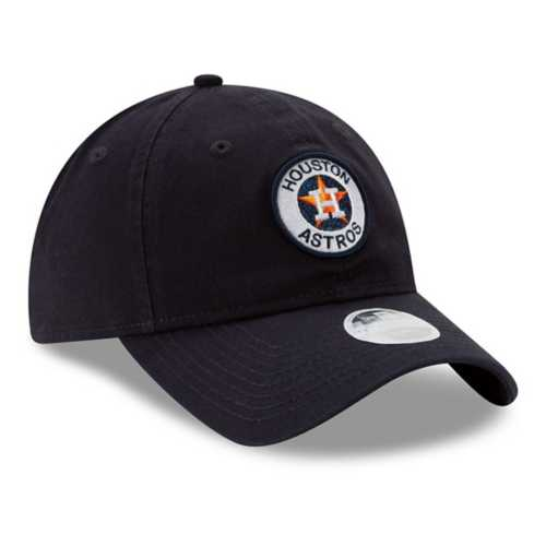 New Era Women's Houston Astros Shiny Patch 9Twenty Relaxed Fit Adjustable Hat
