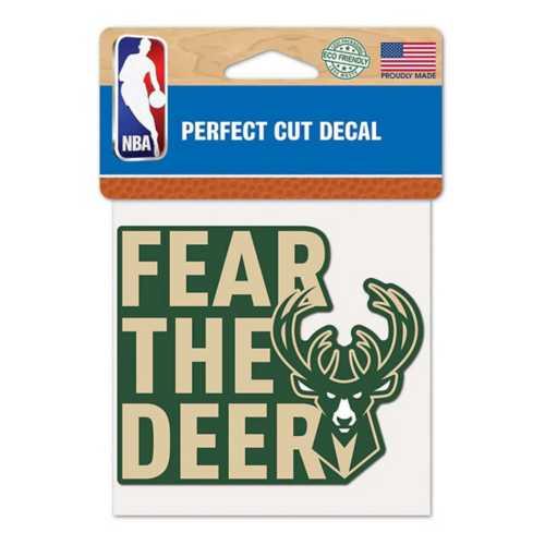 Wincraft Milwaukee Bucks 4X4 Perfect Cut Decal