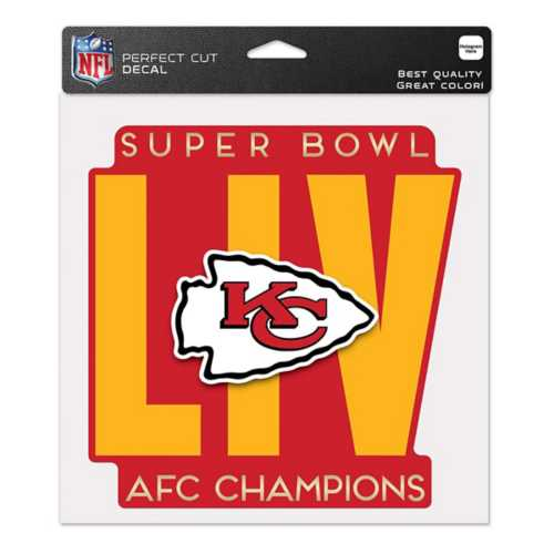 Wincraft Kansas City Chiefs AFC Champions 8X8 Perfect Cut Decal