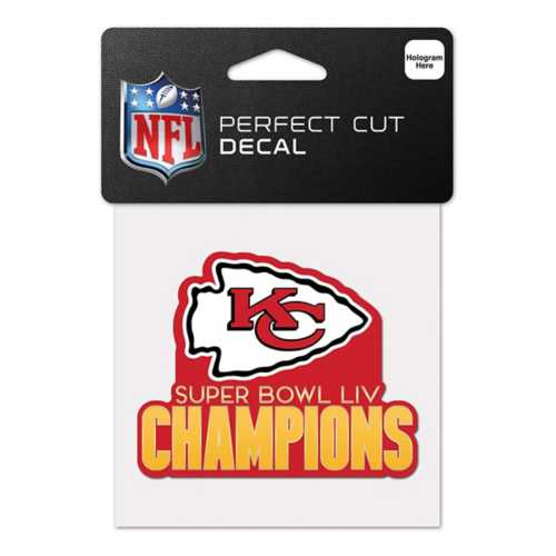 Wincraft Kansas City Chiefs Super Bowl Champions 4X4 Perfect Cut Decal