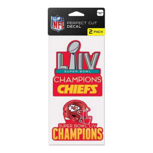 Wincraft Kansas City Chiefs Super Bowl Champions 4X8 2pk. Perfect Cut Decals