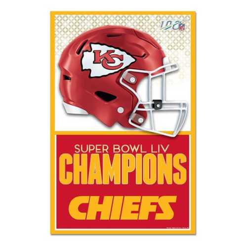 Wincraft Kansas City Chiefs Super Bowl Champions 11X17 Wood Sign