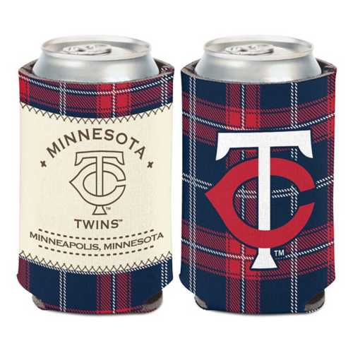 Wincraft Minnesota Twins Plaid Patch Can Cooler