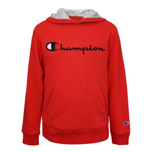Boys' Champion Embroidered Signature Fleece Hoodie
