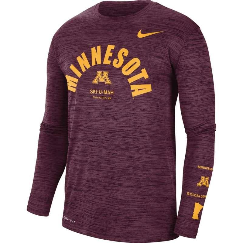 Nike Minnesota Golden Gophers Dri-FIT Legend GFX Long Sleeve Shirt