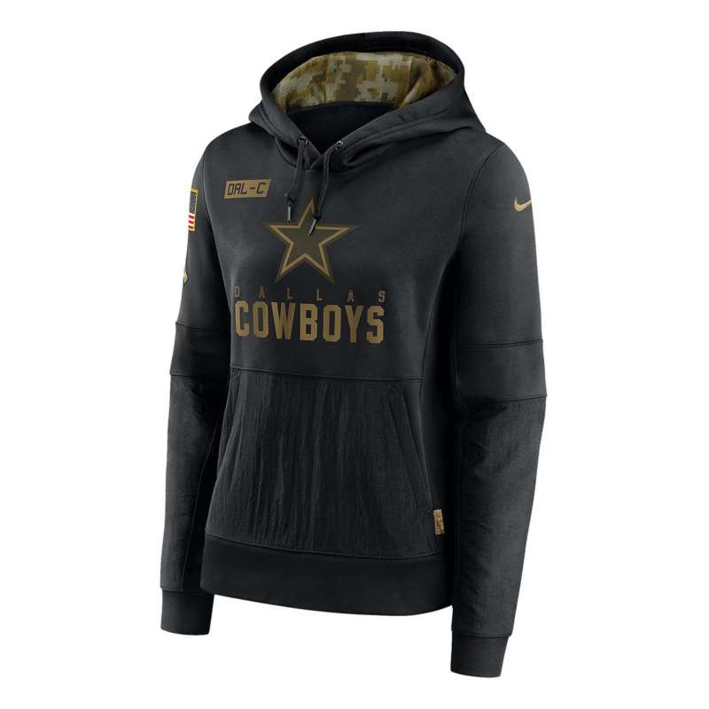 Nike Women's Dallas Cowboys Salute To Service Sideline Performance Hoodie