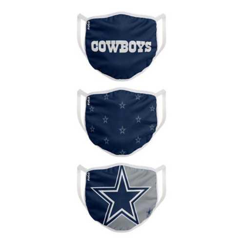 Dallas Cowboys 3 Pack Face Masks