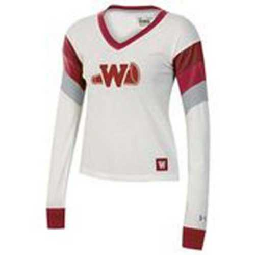 Under Armour Women's Wisconsin Badgers Iconic Cheer Long Sleeve Shirt