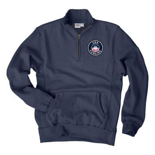Blue 84 Men's USA Curling 1/4 Zip