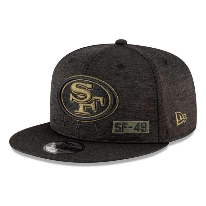 New Era San Francisco 49ers Salute To Service Snapback Hat