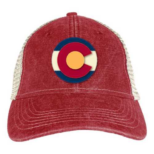 Blue 84 Colorado Flag Emblem Snapback Hat