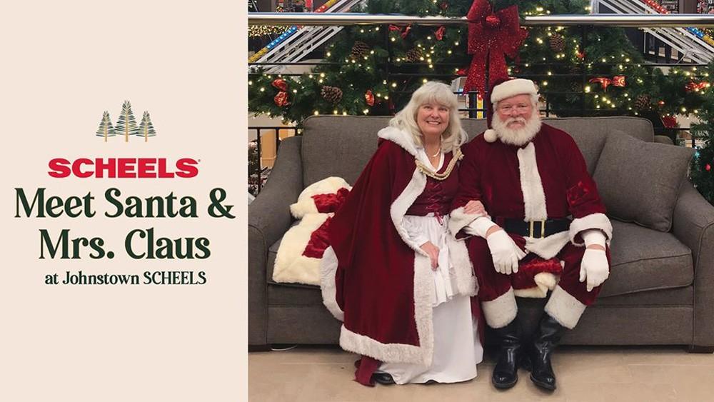 Meet Santa & Mrs Claus at Johnstown SCHEELS
