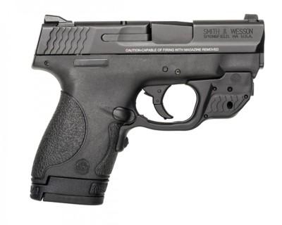Smith & Wesson Shield Crimson Trace Green Laserguard 40 S&W Handgun' data-lgimg='{