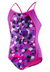 Youth Girls' Speedo Printed Splice Swimsuit