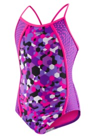 Youth Girls' Speedo Diamond Geo Thin Strap Swimsuit