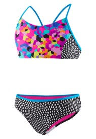 Youth Girls' Speedo Diamond Geo Two Piece Cami Swimsuit