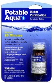 Portable Aqua Water Purification Treatment Tablets