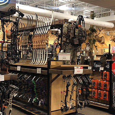 Archery and hunting shop at Sandy Scheels