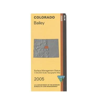 Bureau Of Land Management Bailey CO Surface Map