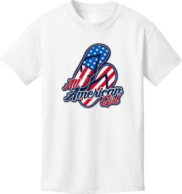 Youth Girls' Spectrum American Girl Short Sleeve Shirt