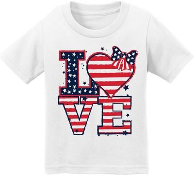 Infant Girls' Spectrum Flag Love Short Sleeve Shirt