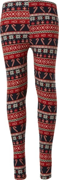 Grade School Girls' Poof! Candy Cane Legging